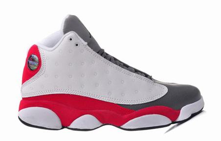 a6cfaa8b0d93 Jordan XIII(13) White Grey Red-085. ID  23069   83.8
