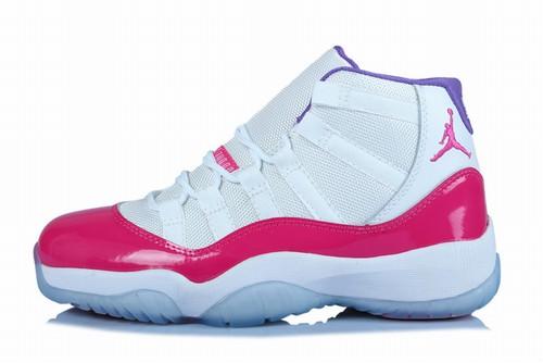 Retro Air Jordan XI(11) Women White/Pink