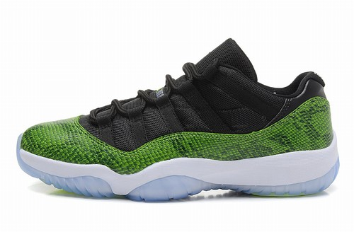 Retro Air Jordan XI(11) Low Black Green-124