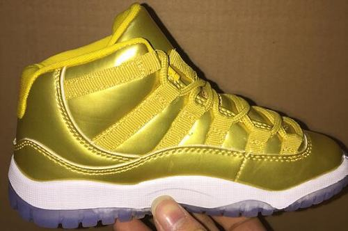 Air Jordan XI(11) Gold Kids