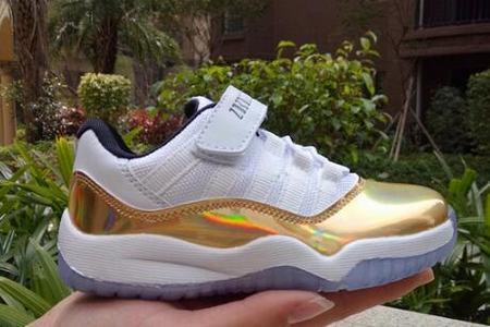 Air Jordan XI(11) Gold Low Kids