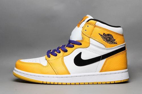 Air Jordan 1(1) High OG White Yellow Black