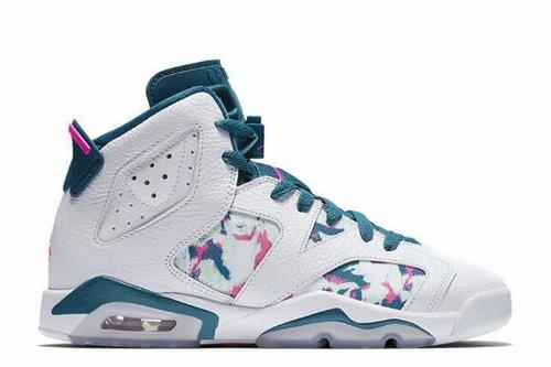 Air Jordan VI(6) Retro GS Green Abyss