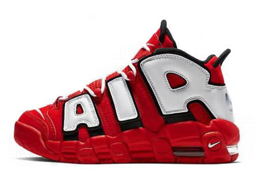 Air More Uptempo Red White Black